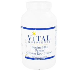Betaine HCl with Pepsin and Gentian Root Extract