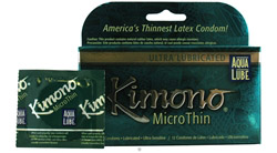 Kimono MicroThin Lubricated Latex Condom Ultra Lubricated with Aqua Lube