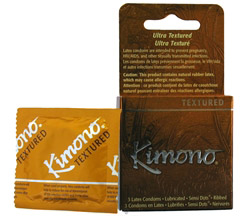 Kimono Lubricated Latex Condoms Textured