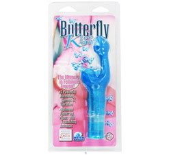 Butterfly Kiss Waterproof Massager Blue