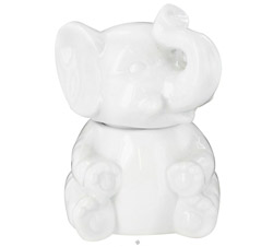 Porcelain Elephant Sugar Bowl White CLEARANCE PRICED